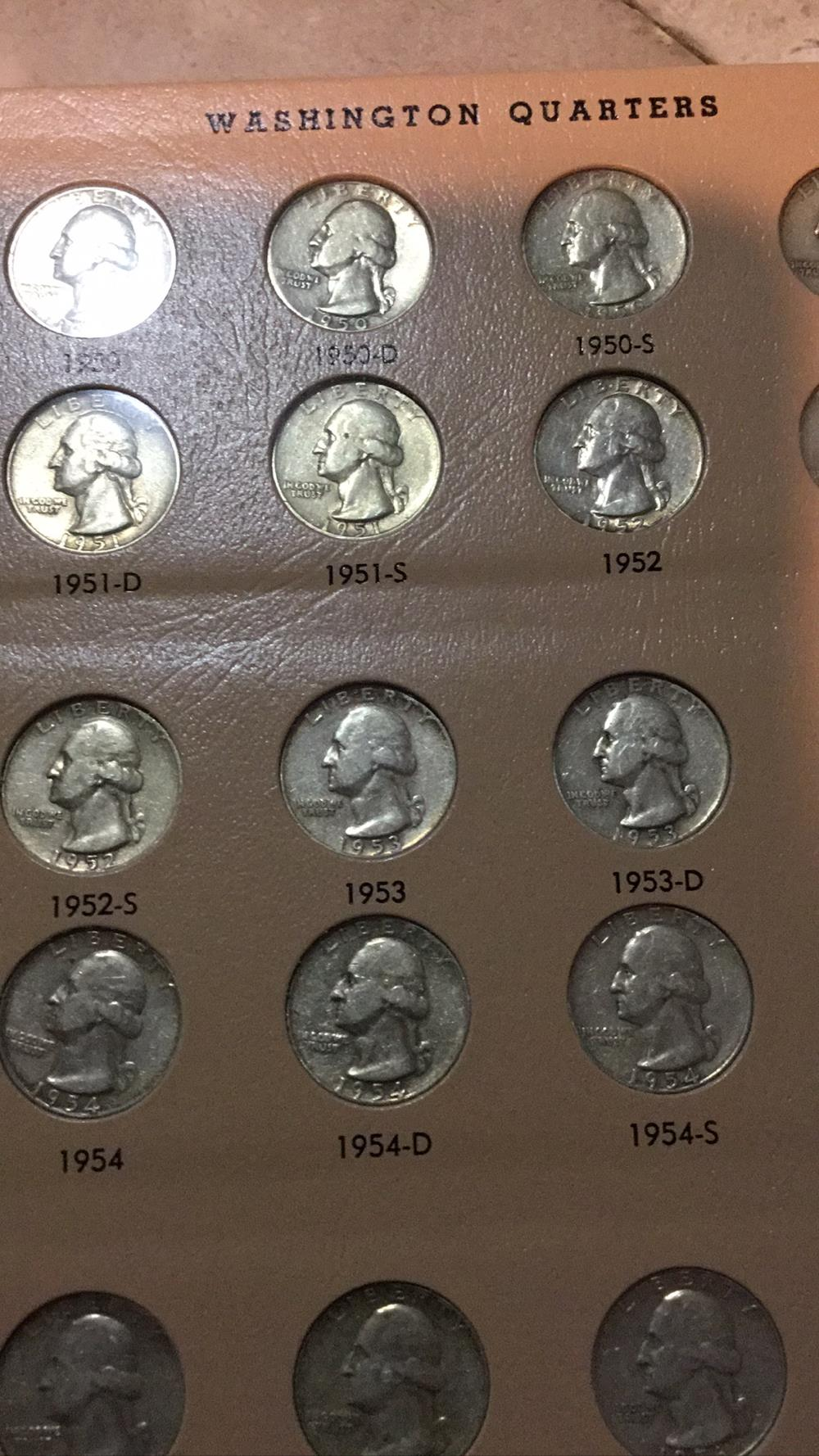 Lot 194: Washington quarters sheet