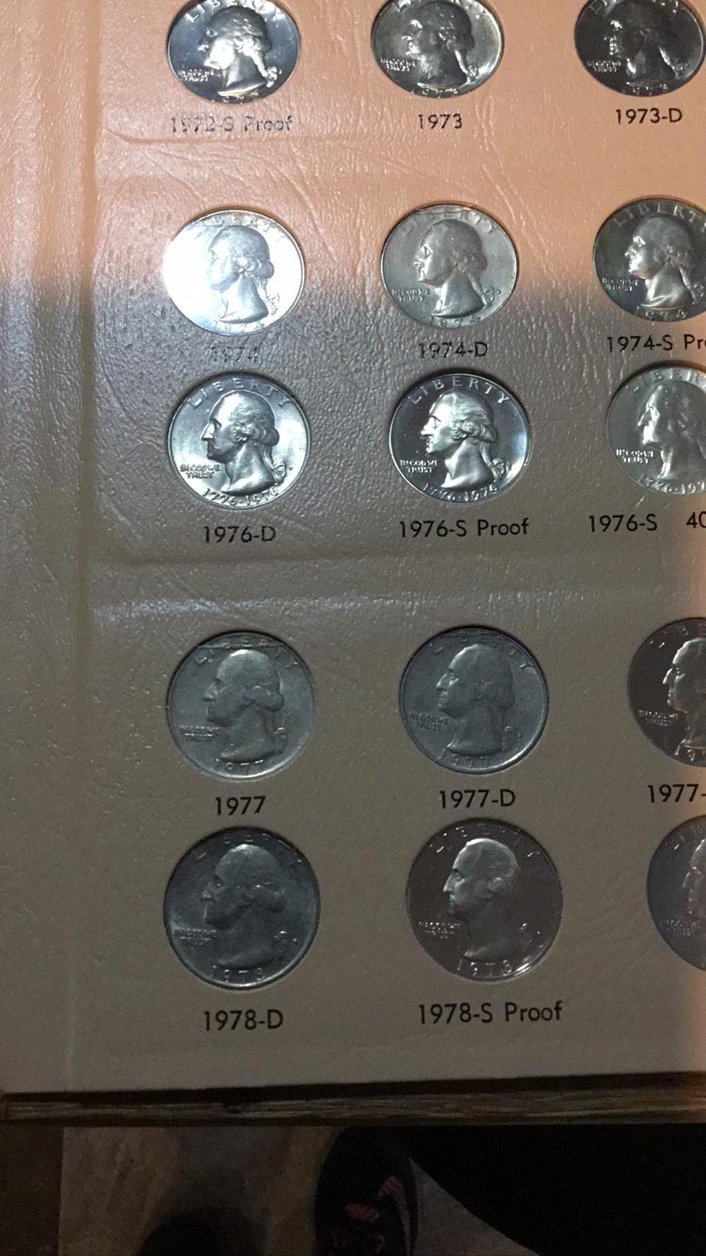 Lot 199: Washington quarters sheet