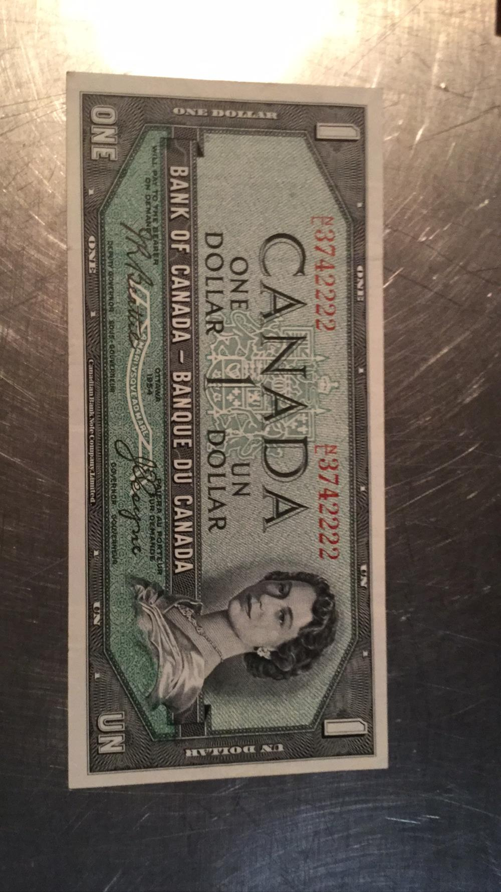 Rare Canadian one dollar called the Devils Face