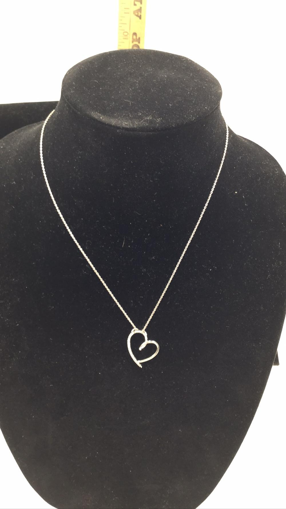 Diamond and sterling necklace and pendant