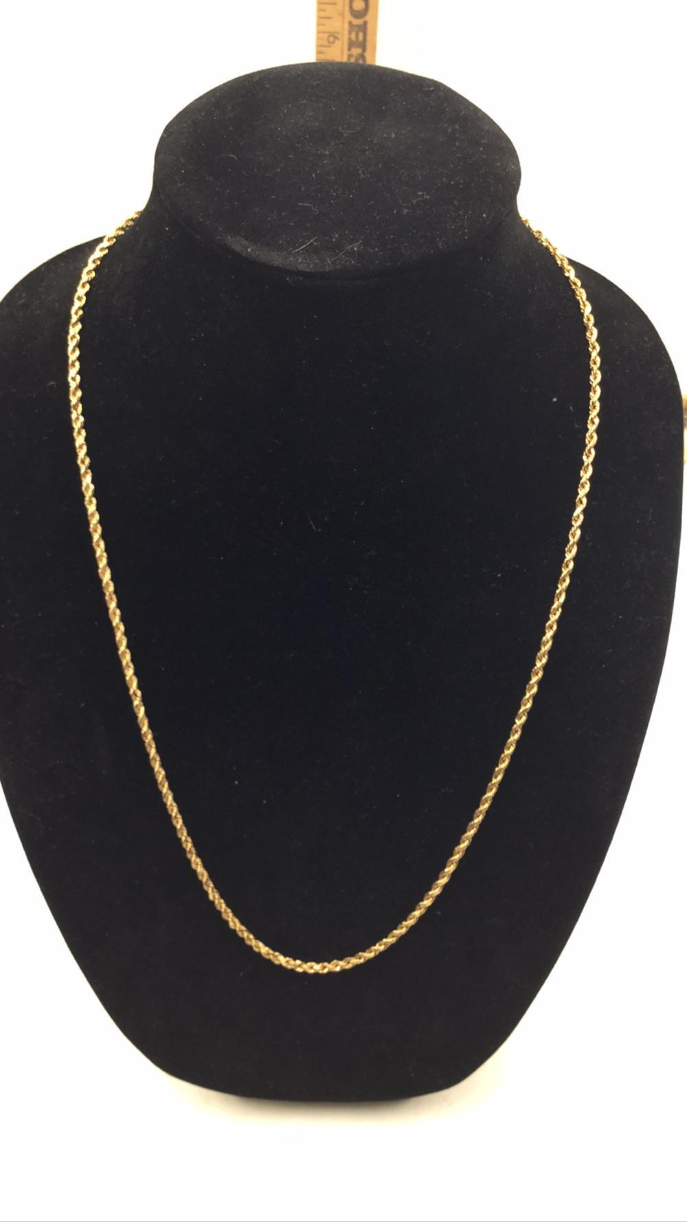14k gold rope chain