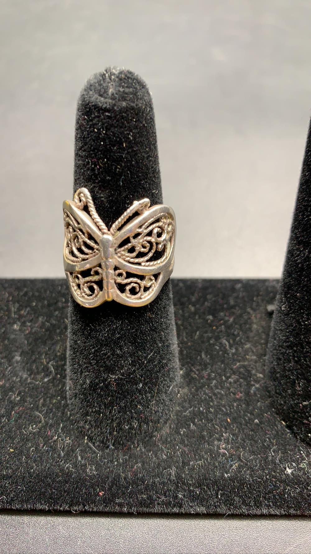 Sterling Butterfly Ring