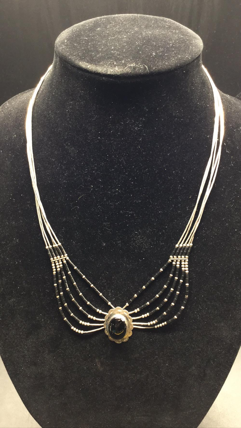 Black onyx native necklace