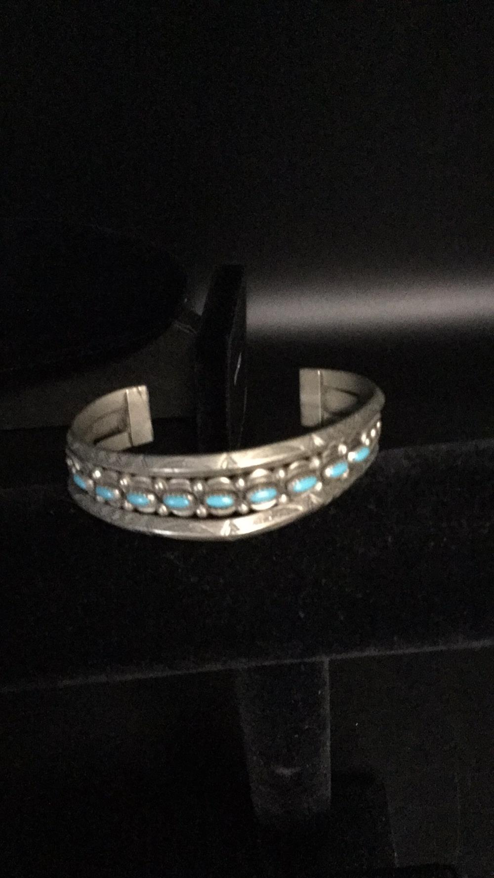 Bell trading turquoise cuff