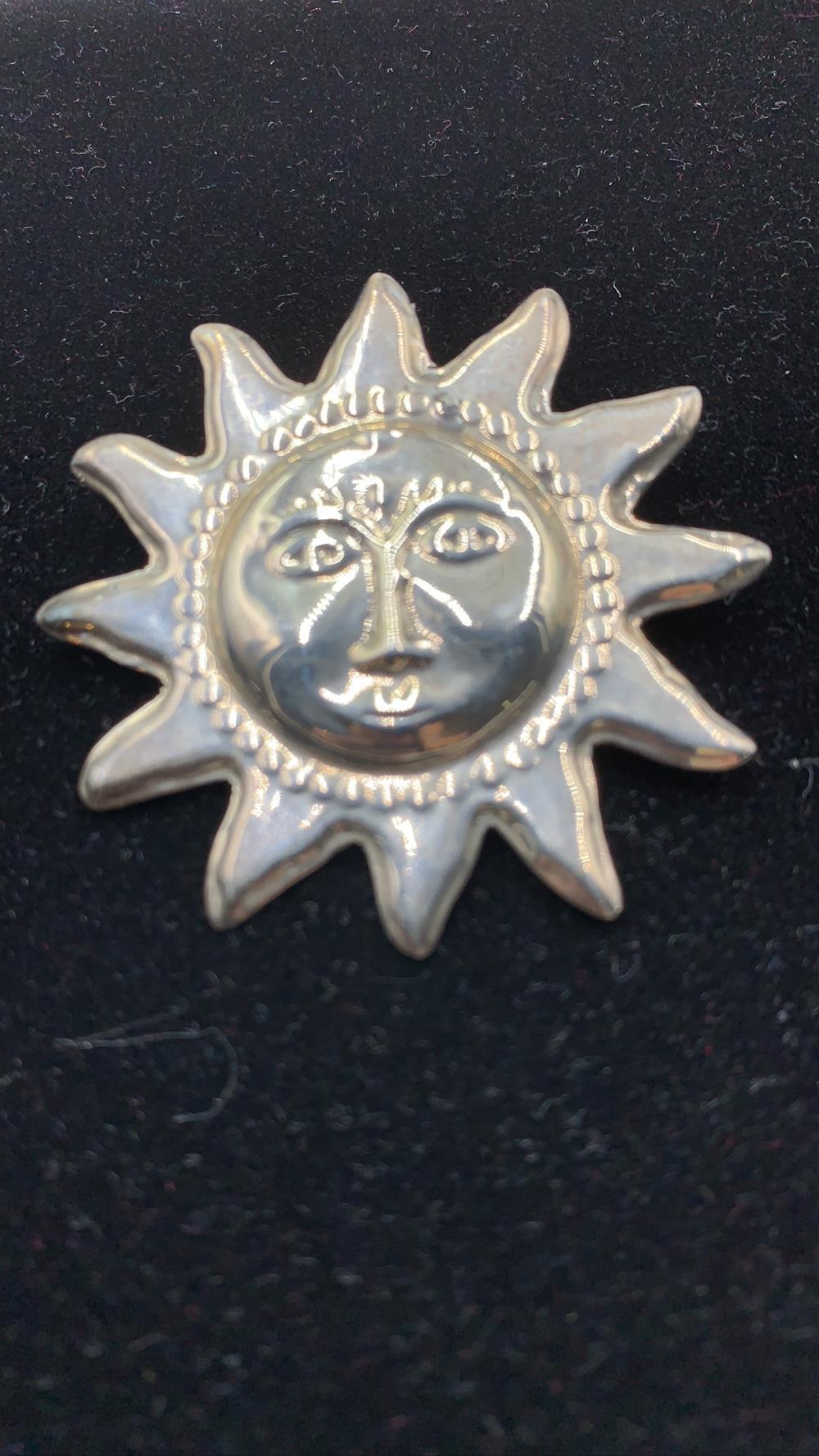 Vintage Taxco Sterling Silver Sun Pendent/Brooch