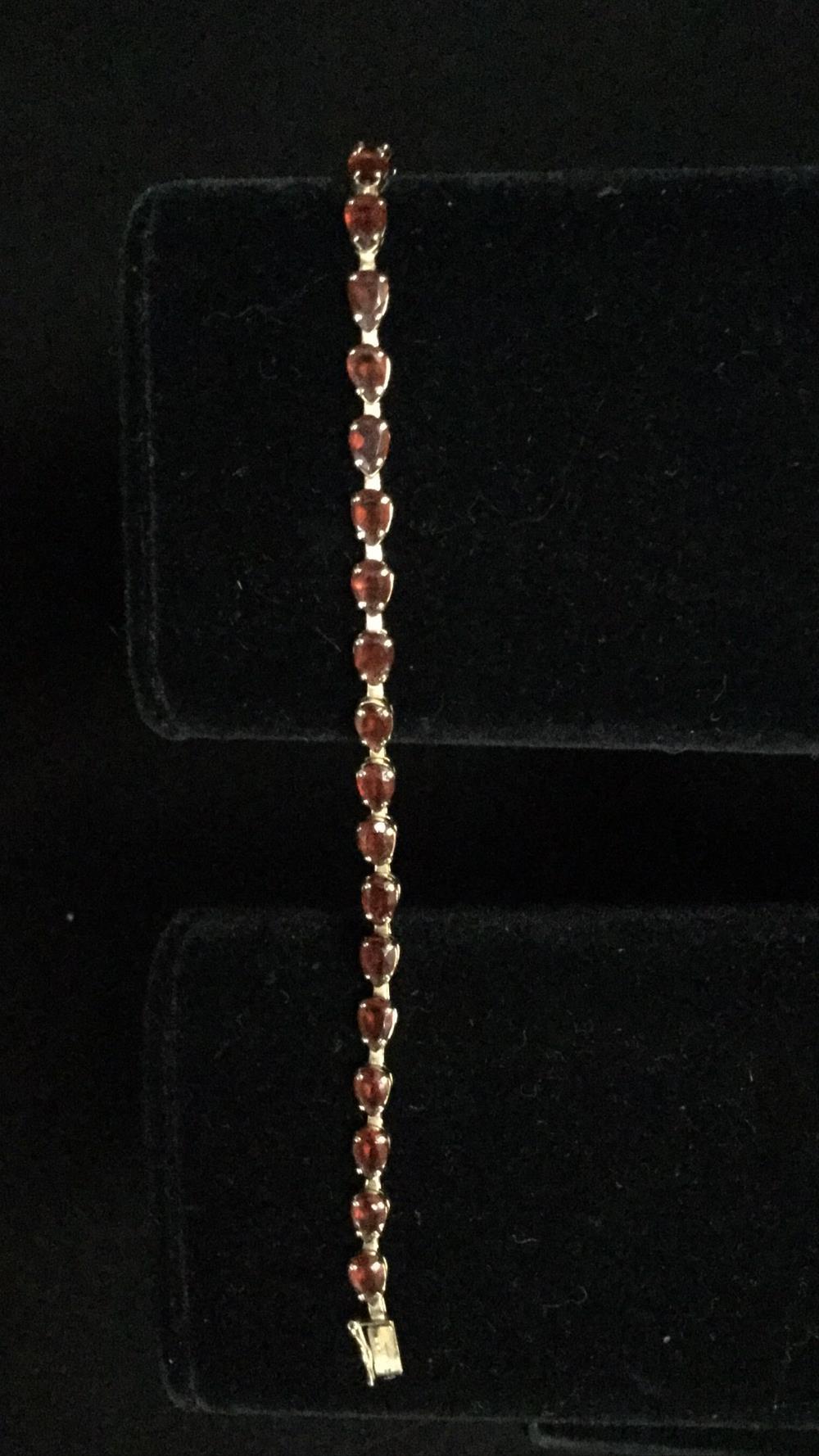 14k garnet tennis bracelet