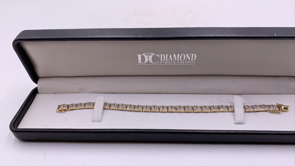 Diamond & .925 Silver Bracelet