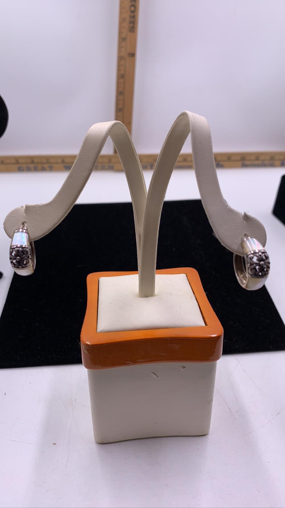 Mother of Pearl & .925 Silver Earrings
