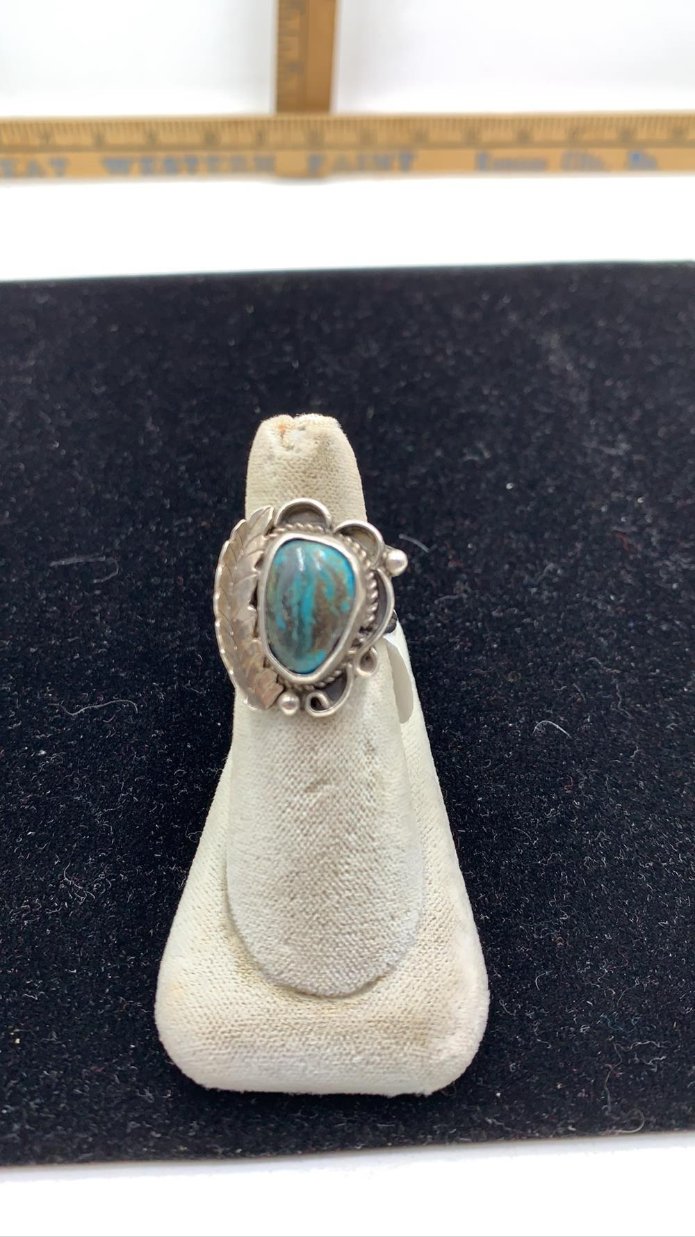 Native Turquoise & Sterling Silver Ring