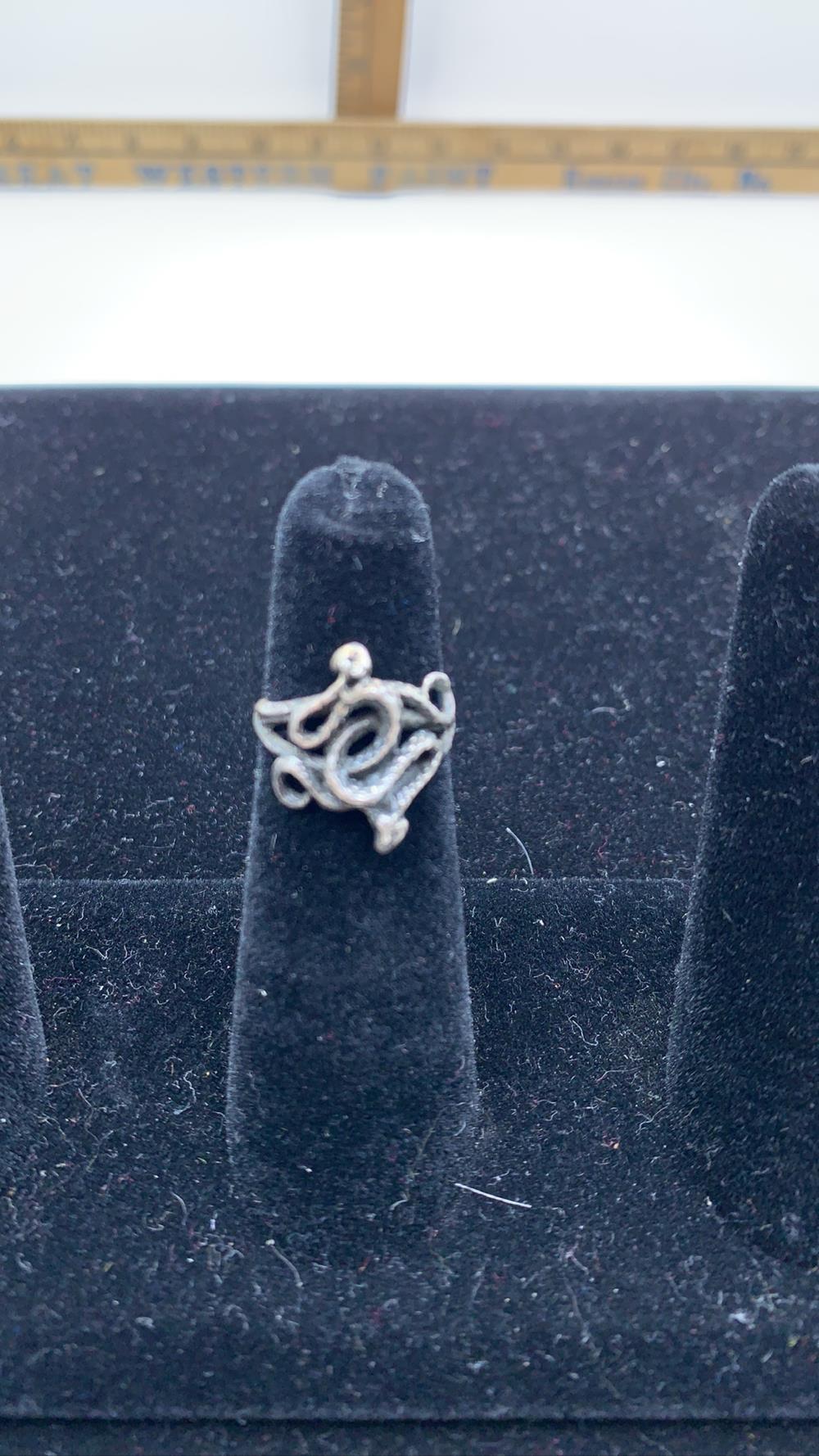 Vintage Sterling Silver Women's Snake Ring