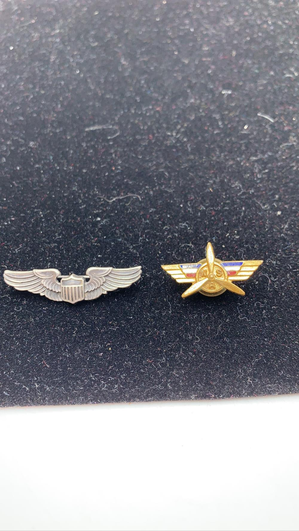 Two Vintage Military Pins