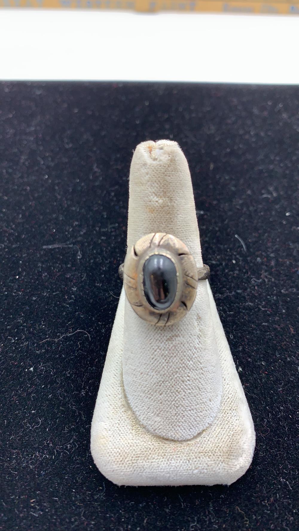 Women's Black Onex & .925 Ring