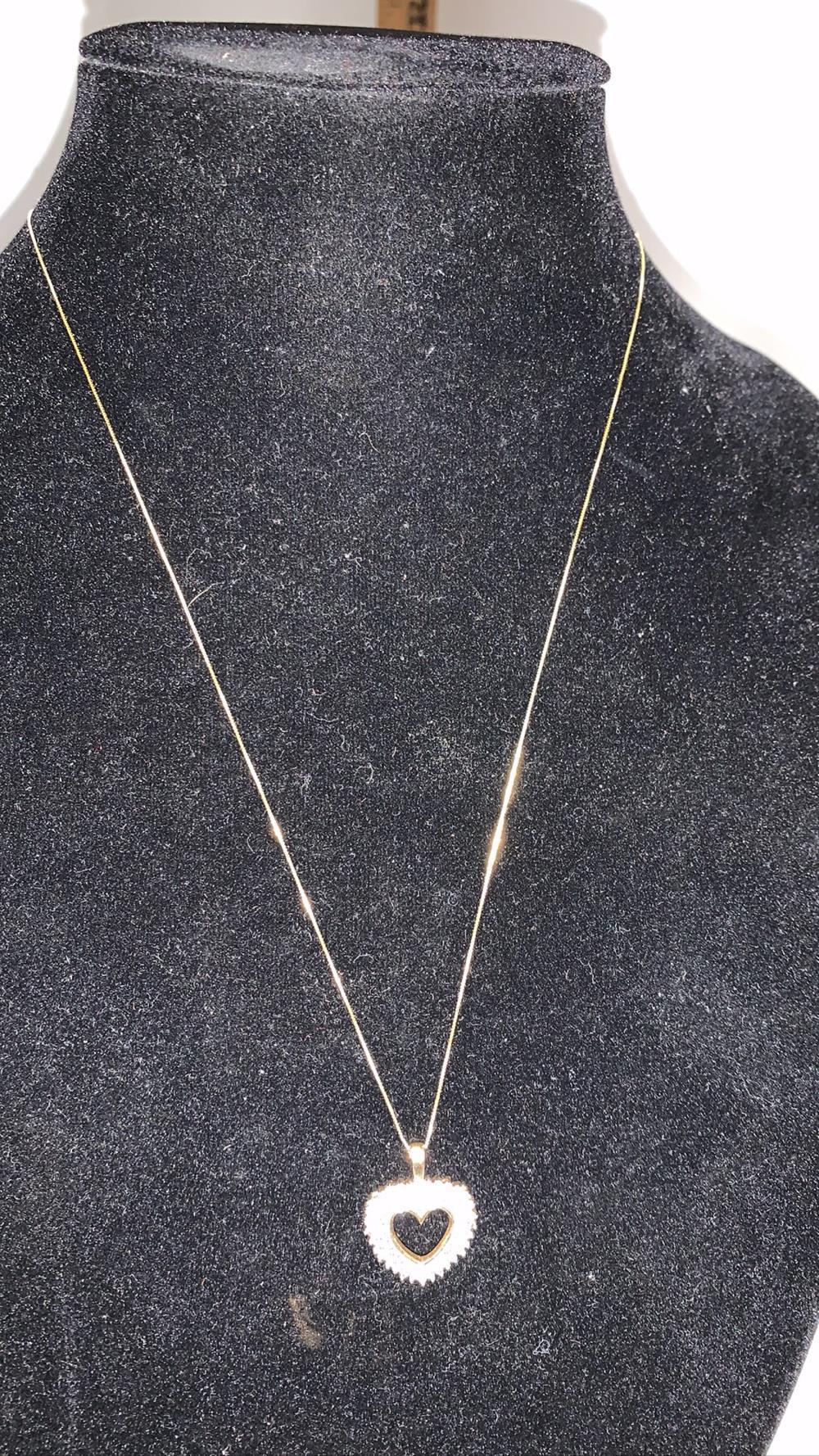 10K Gold & Diamond Necklace