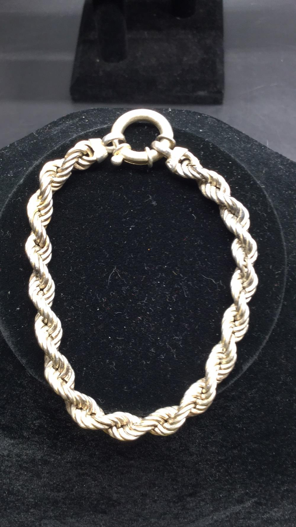 .925 thick rope bracelet