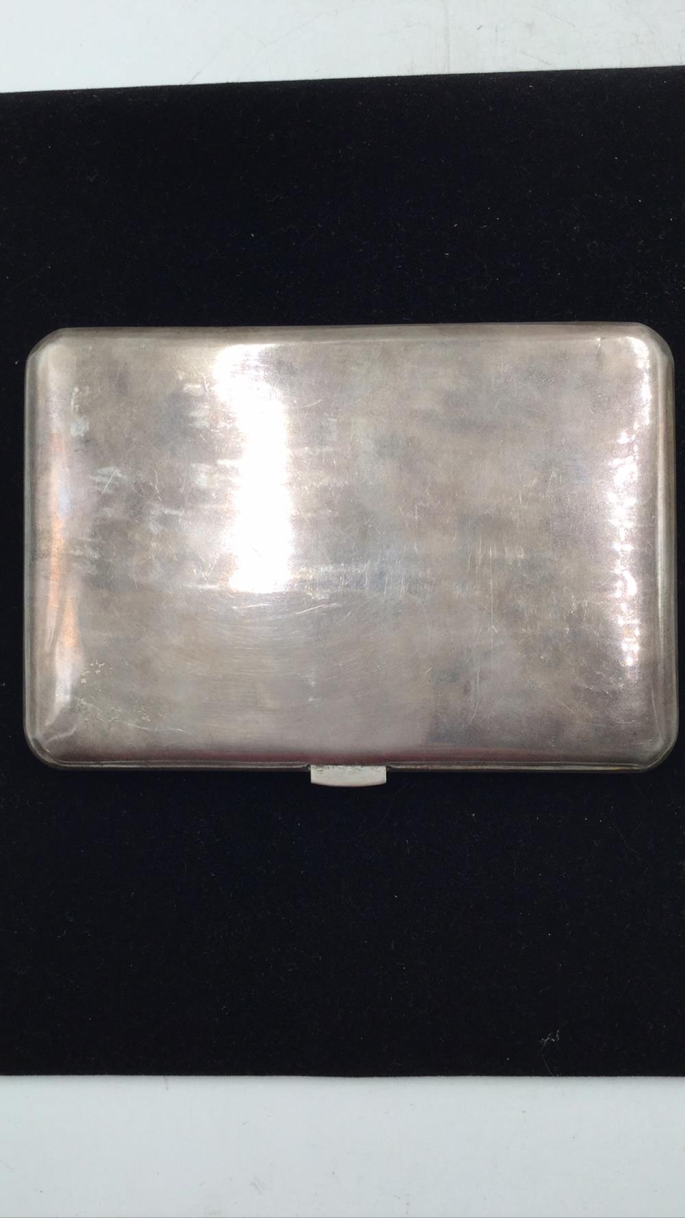 Antique post WWll silver cigarette case