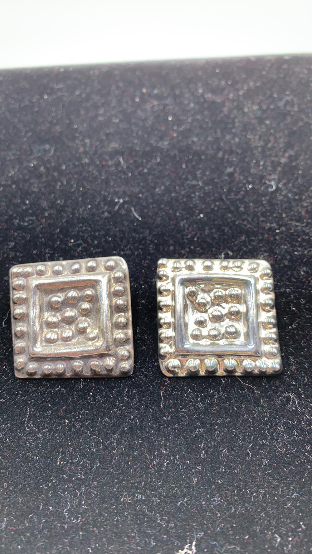 Vintage Set of Taxco Sterling Silver Earrings