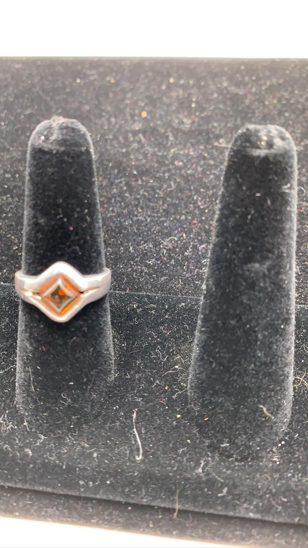 Bultic Amber& Sterling Silver Ring