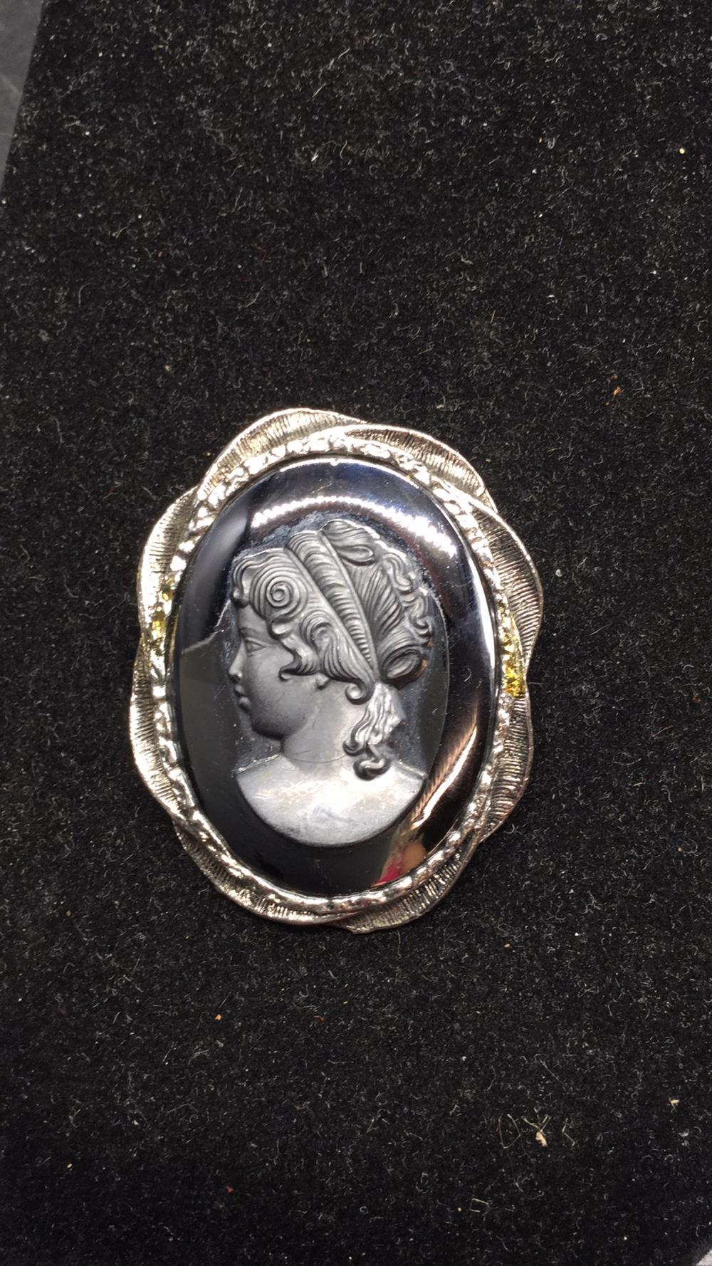 Cameo Marcasite and Jet