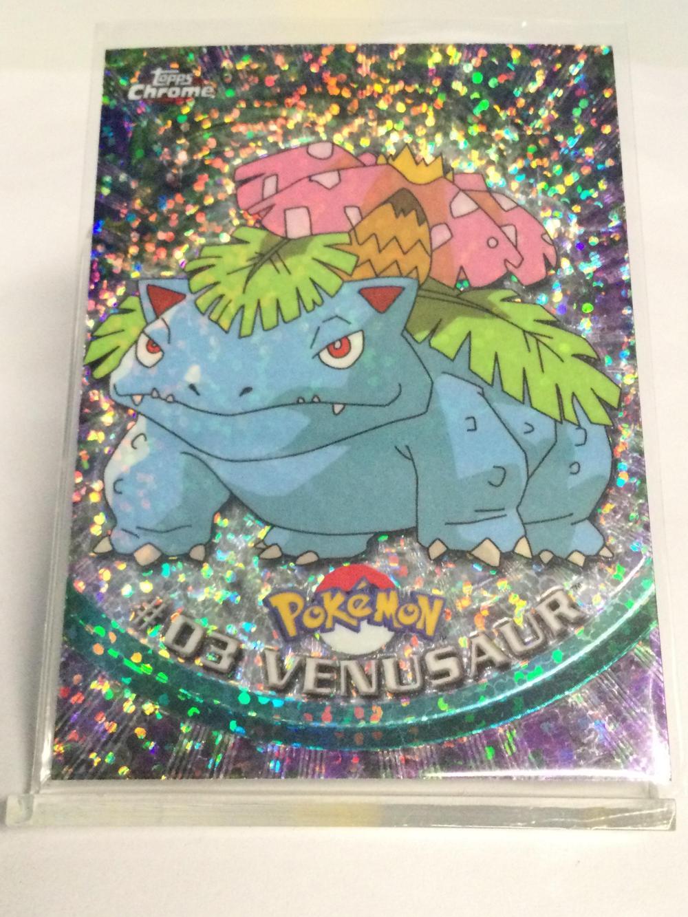 Pokémon Topps Chrome Sparkle #03 Venusaur