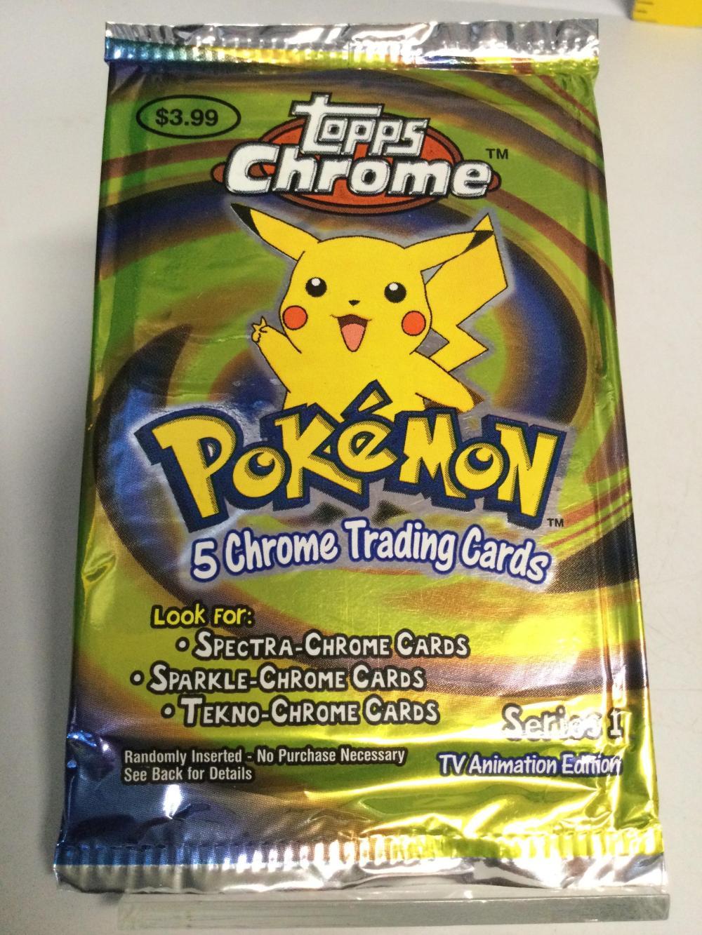 Pokémon Topps Chrome Trading Cards Pikachu