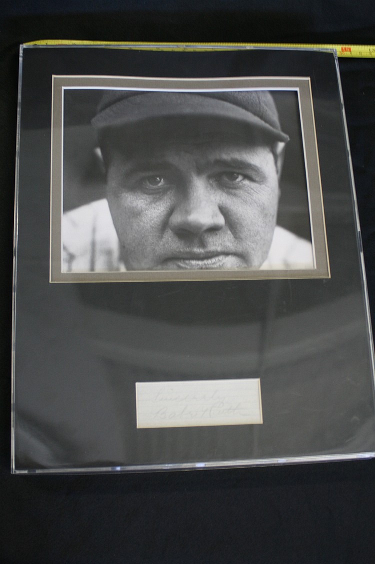 Babe Ruth Photo with Autograph