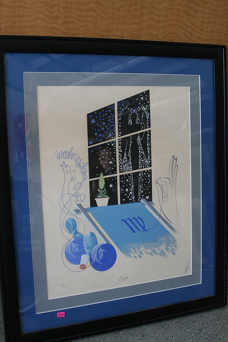 "Lot 20: ""Virgo"" by Erte Limited Edition # 158/350"