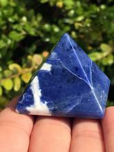 Lot 33: Sodalite, Rock, Crystal, Natural, Collectible, Carving, Pyramid