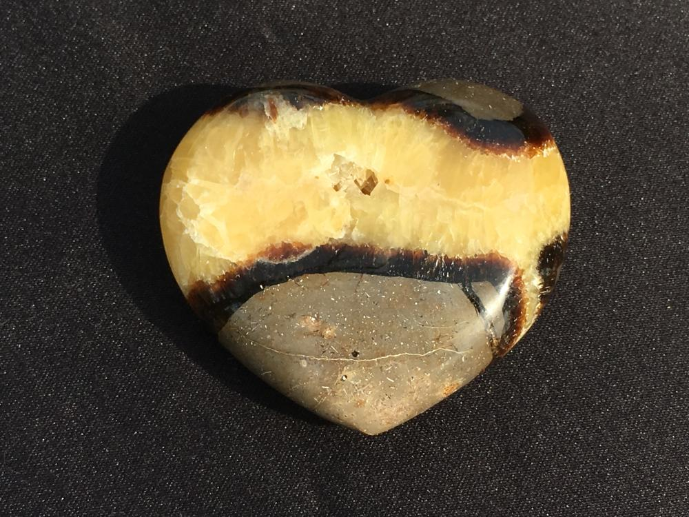 Lot 38: Septarian, Rock, Crystal, Natural, Décor, Collectible, Carving, Heart