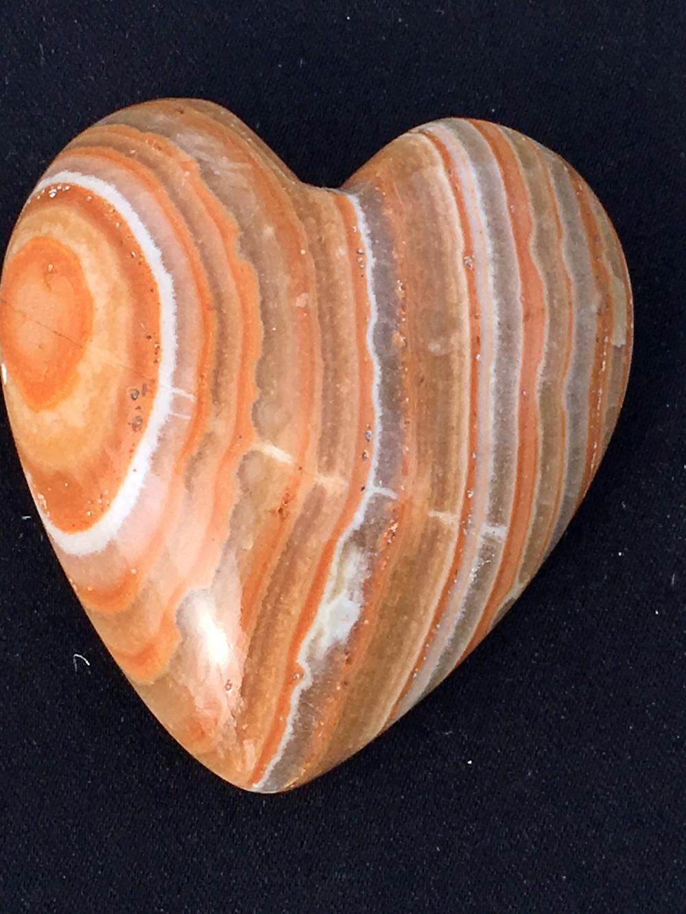 Lot 54: Onyx, Rock, Crystal, Natural, Collectible, Carving, Heart