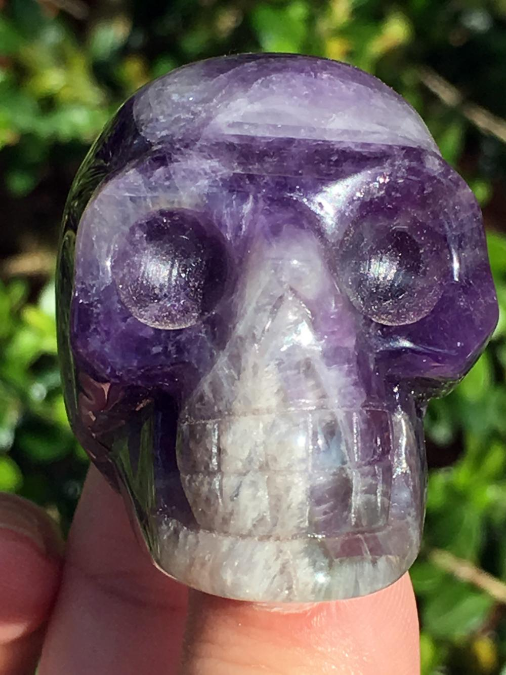 Lot 66: Amethyst, Rock, Crystal, Natural, Collectible, Carving, Skull