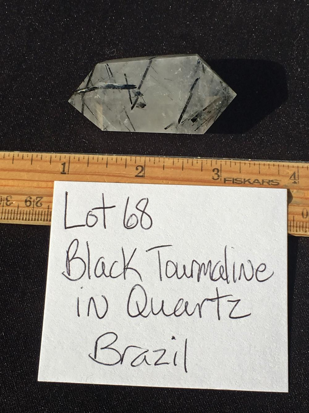 Lot 68: Quartz, Rock, Crystal, Natural, Collectible, Mineral, Massage, Metaphysical, Tourmaline