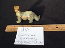 Lot 85: Soapstone, Rock, Crystal, Natural, Décor, Collectible, Dinosaur