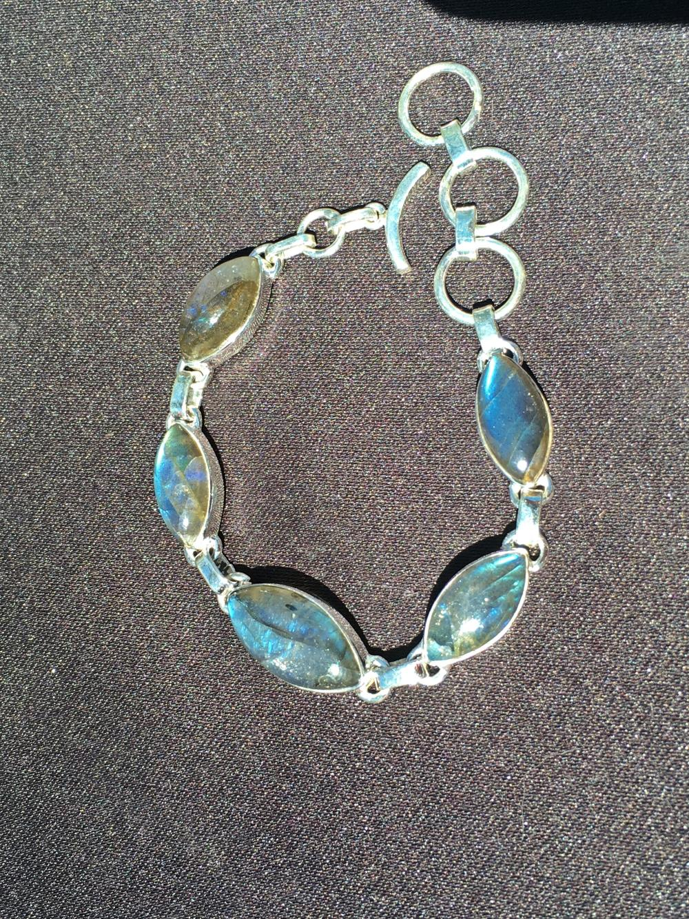 Labradorite, Rock, Crystal, Natural, Jewelry, Sterling