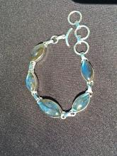 Lot 94: Labradorite, Rock, Crystal, Natural, Jewelry, Sterling