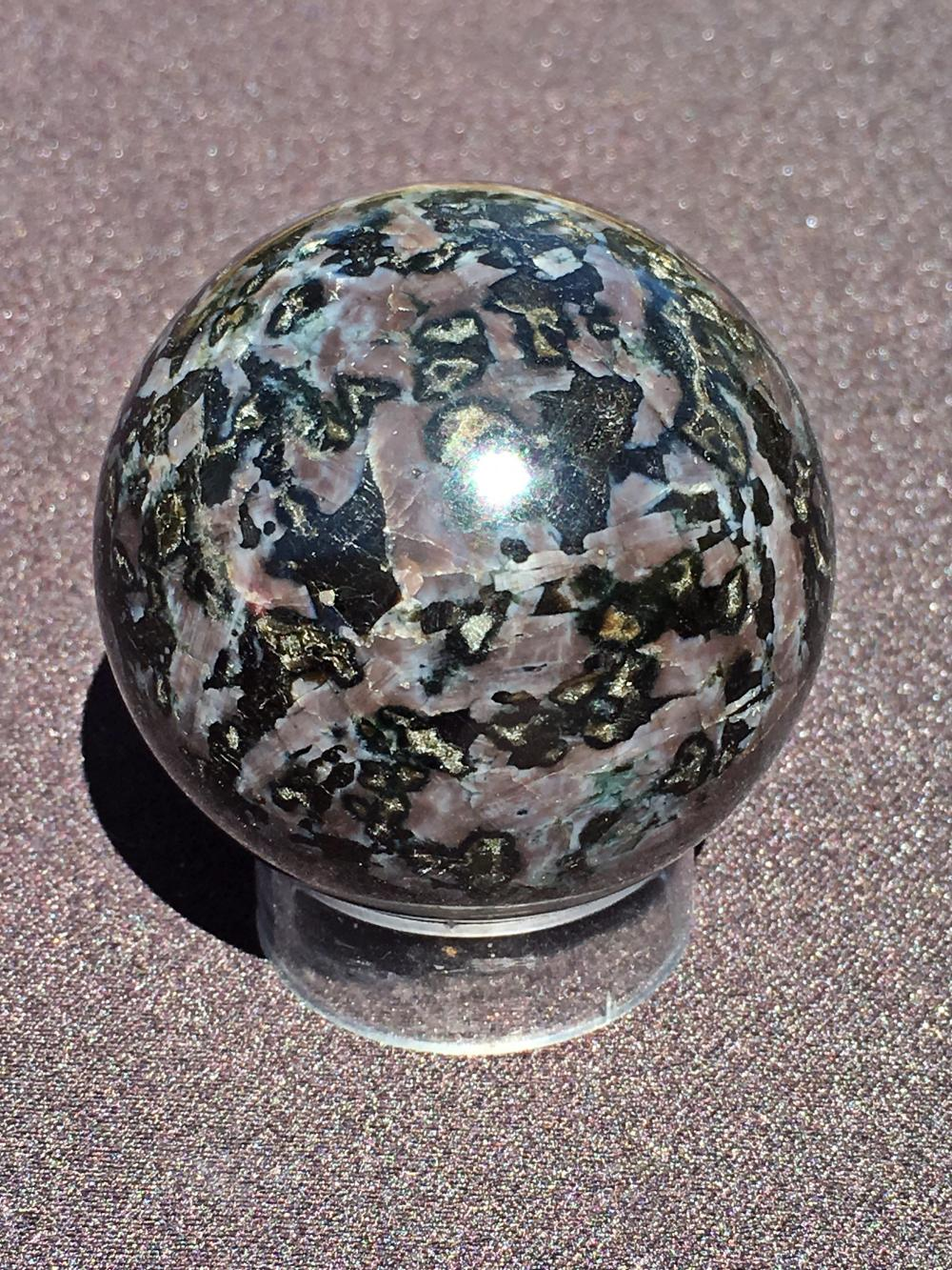 Gabbro, Rock, Crystal, Natural, Collectible, Carving, Sphere