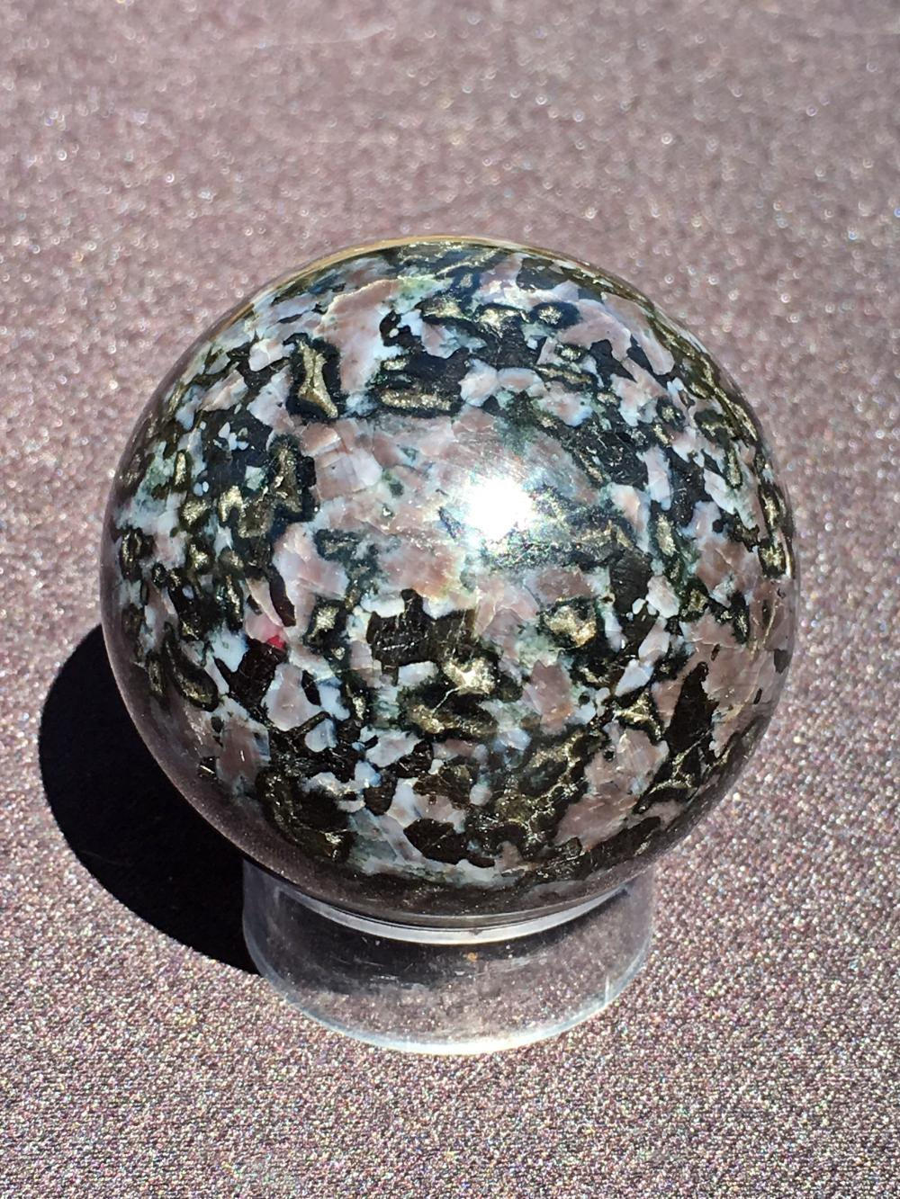 Lot 100: Gabbro, Rock, Crystal, Natural, Collectible, Carving, Sphere