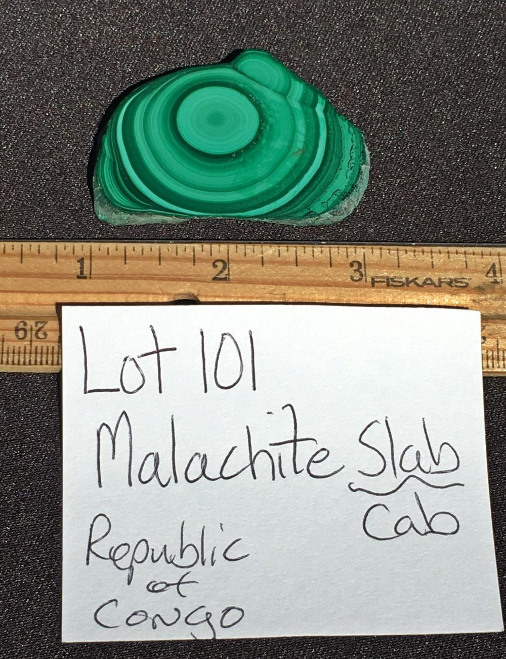 Lot 101: Malachite, Rock, Crystal, Natural, Collectible, Mineral, Specimen
