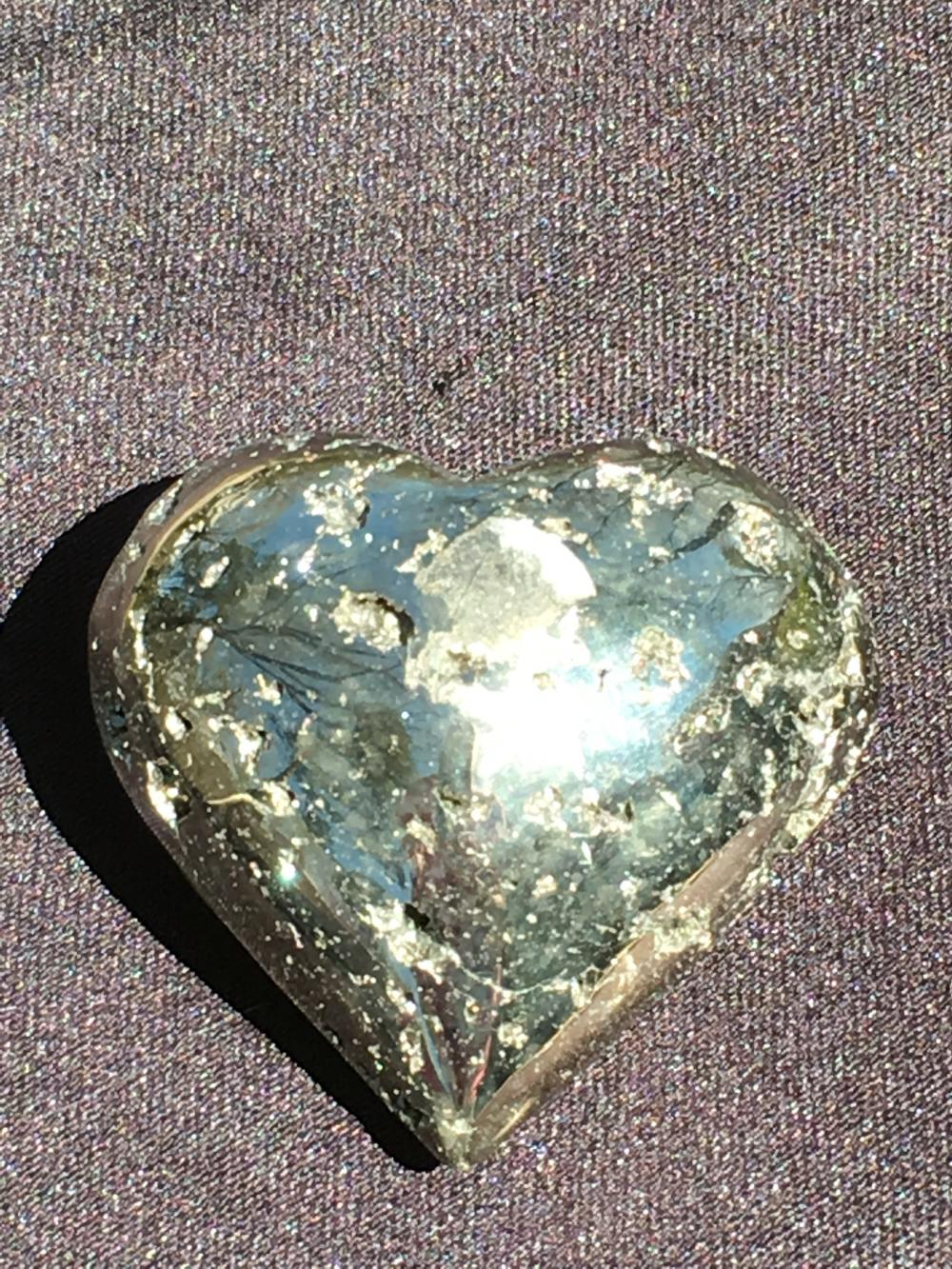 Lot 102: Pyrite, Rock, Crystal, Natural, Collectible, Carving, Heart