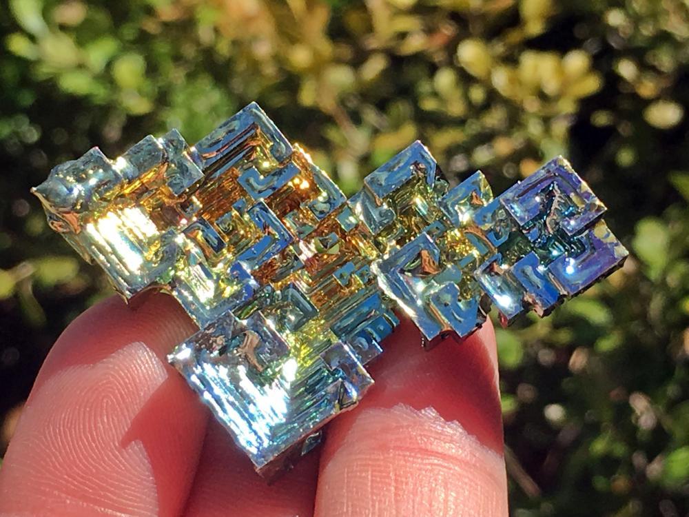 Bismuth, Rock, Crystal, Natural, Collectible, Mineral, Specimen