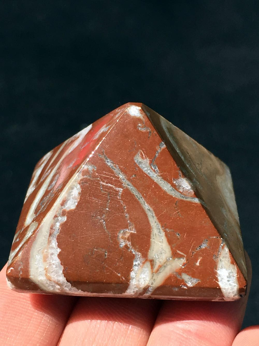Fossil, Rock, Natural, Décor, Collectible, Carving, Pyramid