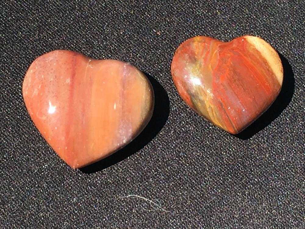 Petrified wood, Rock, Crystal, Natural, Décor, Collectible, Carving, Heart