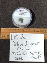 Lot 130: Moldavite, Rock, Crystal, Glass, Natural, Collectible, Mineral, Specimen