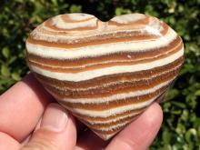 Lot 142: Aragonite, Rock, Crystal, Natural, Décor, Collectible, Carving, Heart