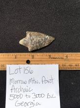 Lot 156: Artifact, Rock, Tool, Natural, Collectible, Arrowhead,