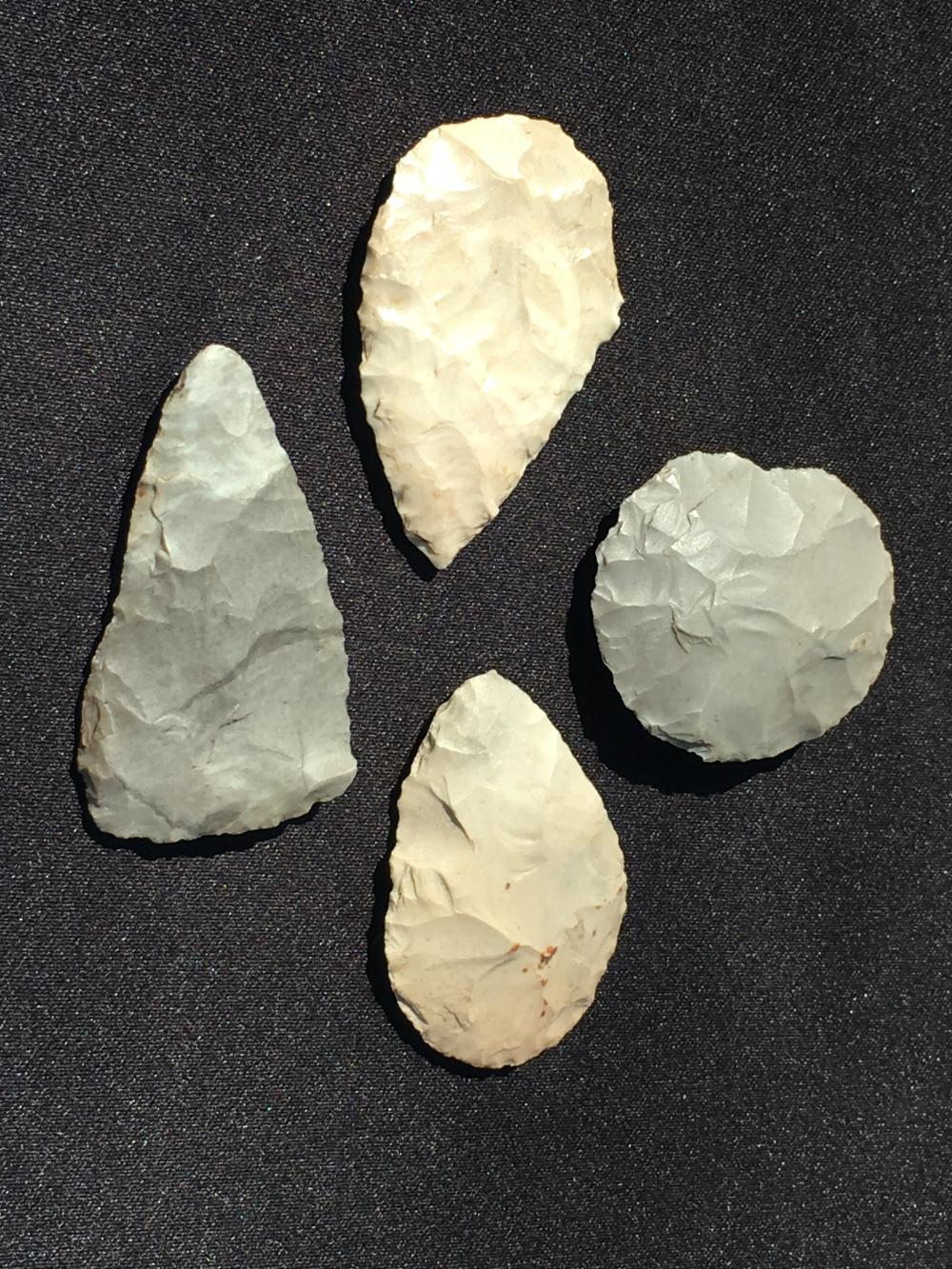 Lot 163: Artifact, Rock, Tool, Natural, Collectible, Arrowhead, Knife