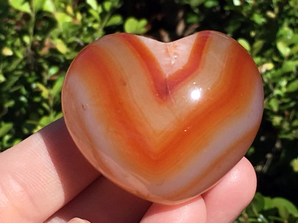 Agate, Rock, Crystal, Natural, Collectible, Carving, Heart