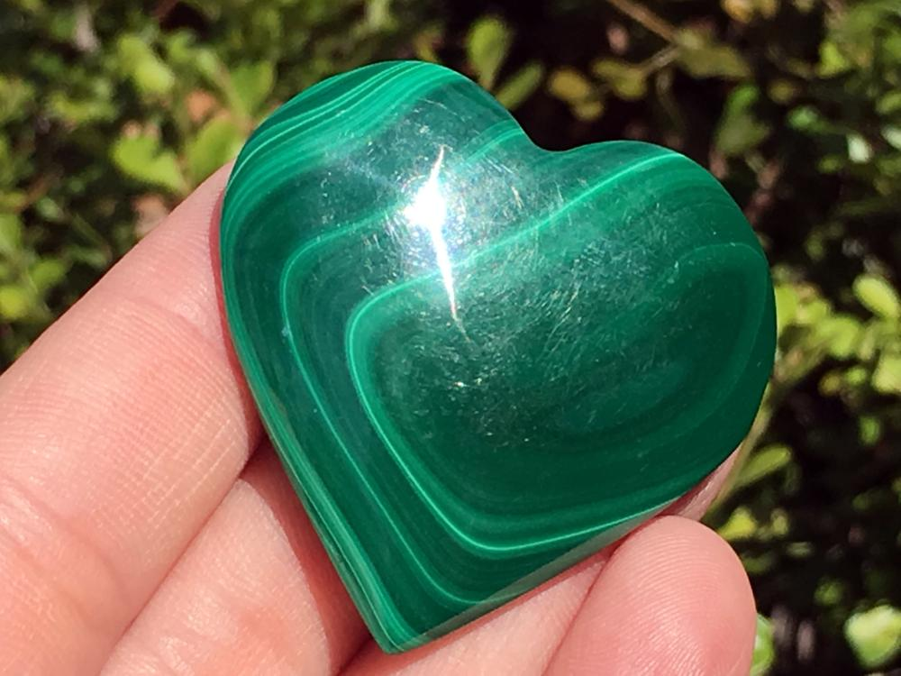 Lot 182: Malachite, Rock, Crystal, Natural, Collectible, Carving, Heart