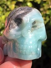 Lot 185: Chalcedoney, Rock, Crystal, Natural, Collectible, Carving, Skull