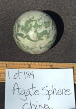 Lot 184: Agate, Rock, Crystal, Natural, Décor, Collectible, Carving, Sphere