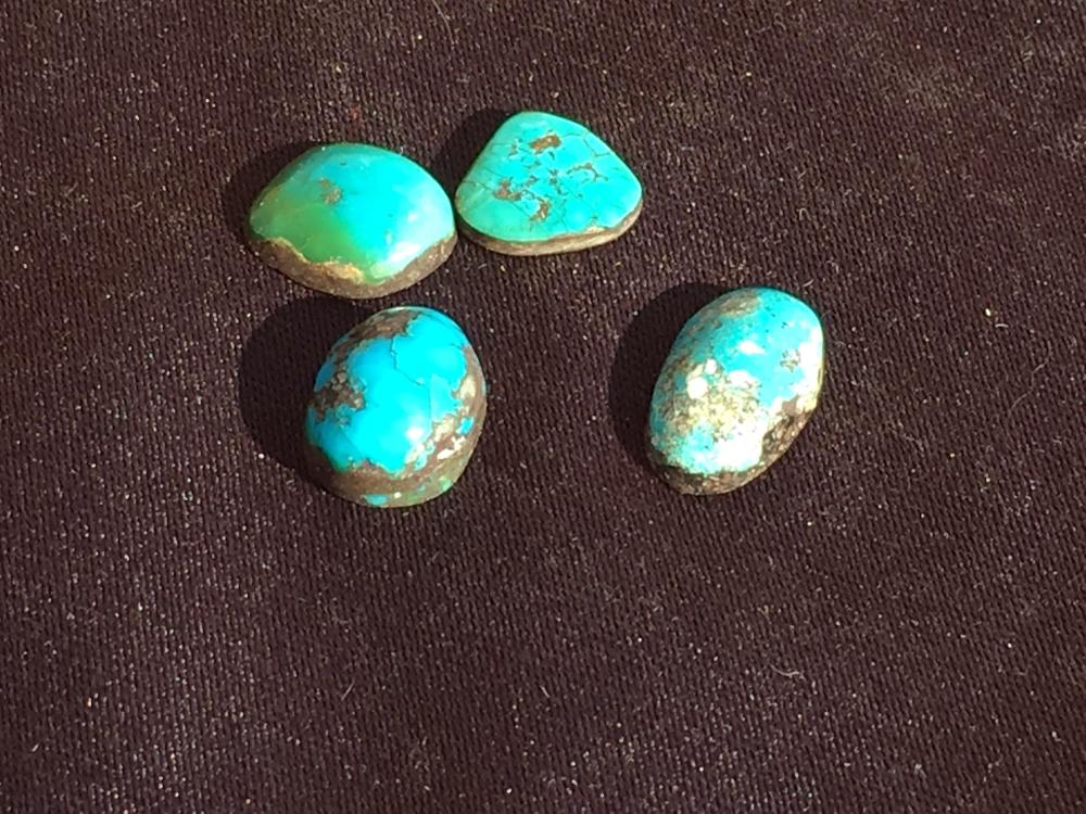 Lot 210: Turquoise, Rock, Crystal, Natural, Jewelry, Lapidary, Cabochon
